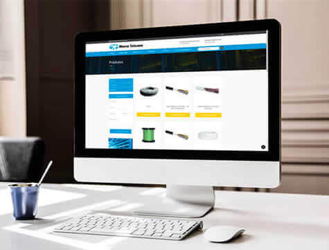 Criação de site gerenciável Marca Telecom