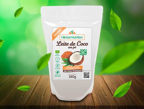 Design Rótulo Embalagem leite de coco em pó
